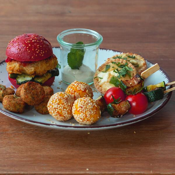 Vegetarisches Fingerfood Catering Box